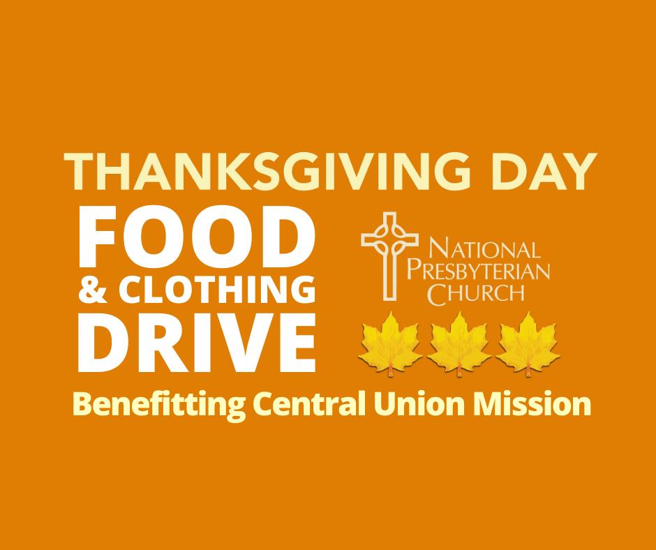 Thanksgiving Day Food & Clothing Drive at National Presbyterian Church