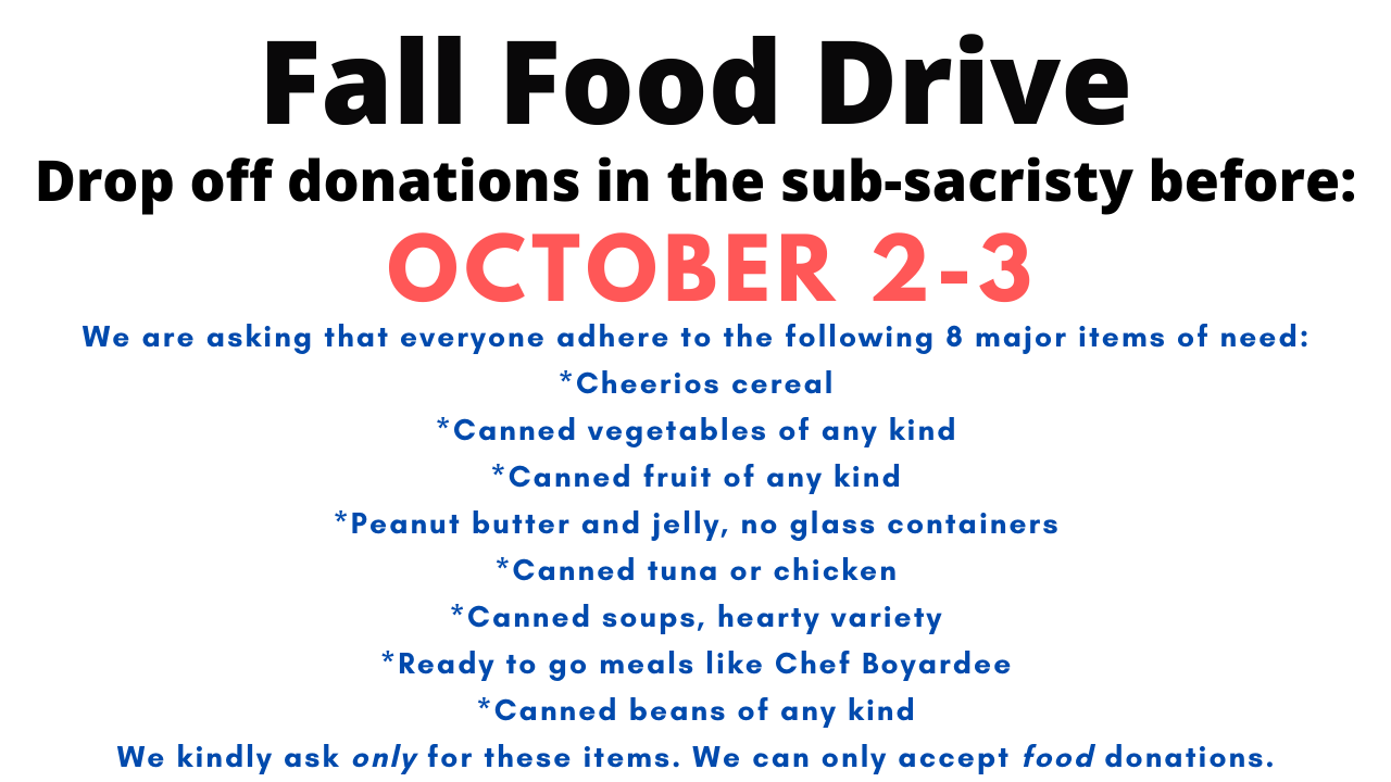 Fall Food Drive: Help Us Feed 800+ Families this Month!